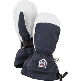 Hestra Army Leather Heli Ski Mittens Barn navy